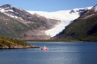Gletscherzunge am Holandsfjorden