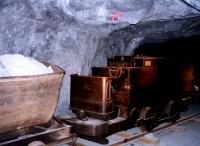 Grubenzug im Silberbergwerk Kongsberg