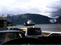 Mit der Fähre über den Hardangerfjord