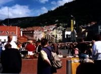 Bergen: Trödelmarkt am Hafen
