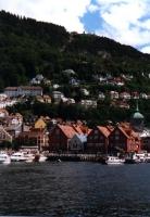 Bergen: Blick über den Hafen zur Floyenbahn