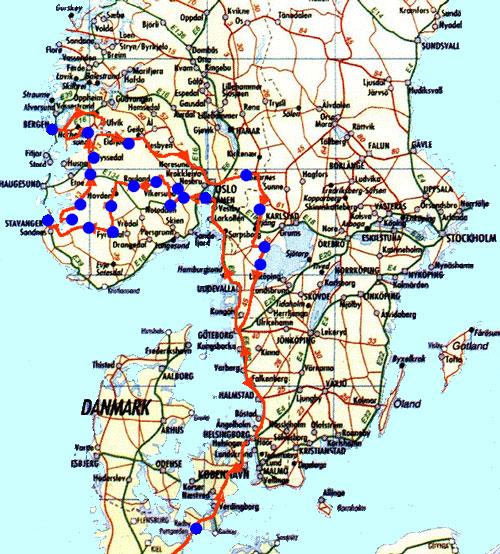 norwegen sehenswürdigkeiten karte Wilfried Leske etwas teilen!   Skandinavien 2000 nach  norwegen sehenswürdigkeiten karte
